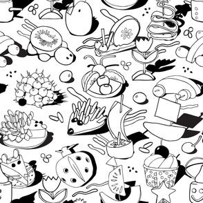 Fun food coloring book