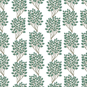 Green leaves pattern