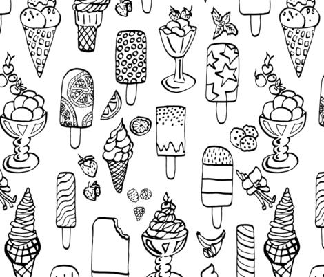 Ice cream Frenzy fabric by stargazingseamstress on Spoonflower - custom fabric
