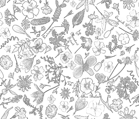 Edible Flowers  fabric by mypetalpress on Spoonflower - custom fabric