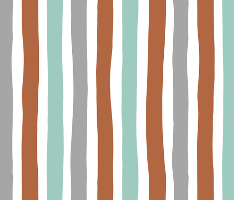 Rainbow beams abstract vertical stripes trend colorful modern minimal design boys mint copper gray Jumbo fabric by littlesmilemakers on Spoonflower - custom fabric
