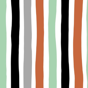 Rainbow beams abstract vertical stripes trend colorful modern minimal design gender neutral mint copper black fall JUMBO