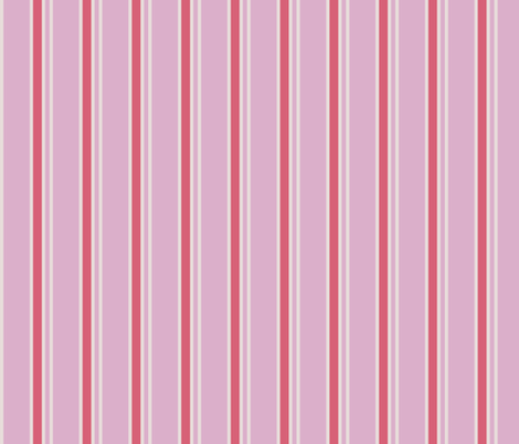 Classic Strips in Pink and Rose fabric by miridesign on Spoonflower - custom fabric