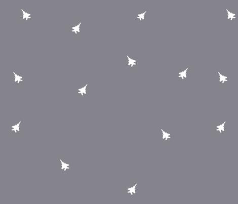 F15c repeat white on gray fabric by jennikainoriginals on Spoonflower - custom fabric