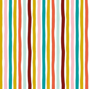 Rainbow beams abstract vertical stripes trend colorful modern minimal design pink blue yellow SMALL