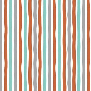 Rainbow beams abstract vertical stripes trend colorful modern minimal design boys mint copper gray SMALL