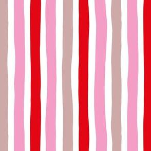 Rainbow beams abstract vertical stripes trend colorful modern minimal design girls pink summer MEDIUM