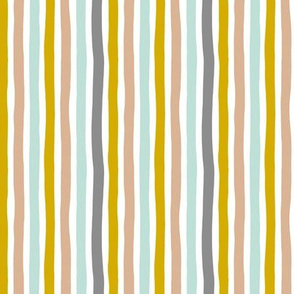 Rainbow beams abstract vertical stripes trend colorful modern minimal design gender neutral gray mint mustard yellow boys SMALL