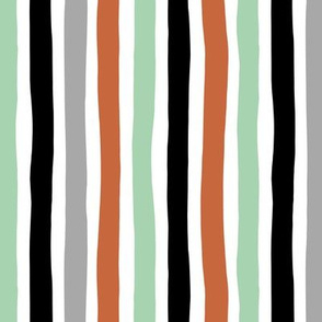 Rainbow beams abstract vertical stripes trend colorful modern minimal design gender neutral mint copper black fall MEDIUM