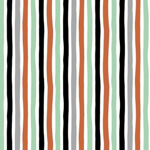 Rainbow beams abstract vertical stripes trend colorful modern minimal design gender neutral mint copper black fall SMALL