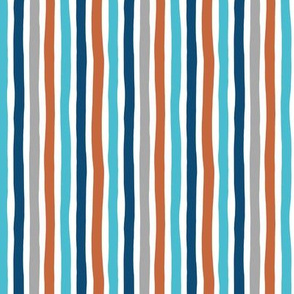 Rainbow beams abstract vertical stripes trend colorful modern minimal design gender neutral blue copper winter SMALL
