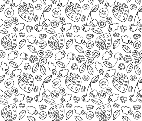 BerriesAndHoneycomb fabric by beckarahn on Spoonflower - custom fabric