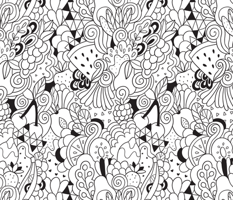 doodle_fruits fabric by kostolom3000 on Spoonflower - custom fabric