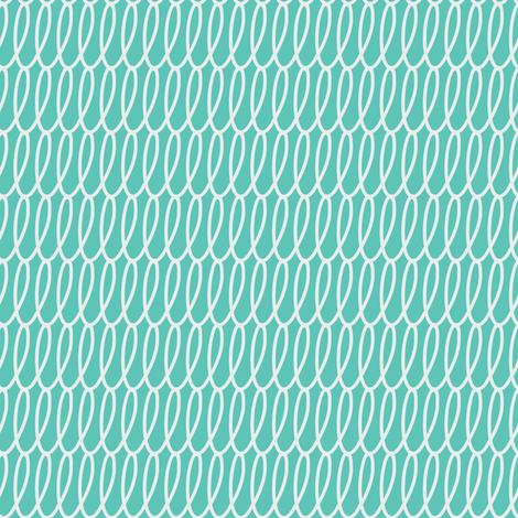 cestlaviv_loopy_sacramento_white_teal fabric by @vivsbeautifulmess on Spoonflower - custom fabric