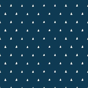 Tiny Triangles (sailor blue) Coordinate for Sloth patchwork fabric, design GL