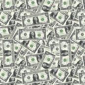 money - one dollar 12x12 pattern