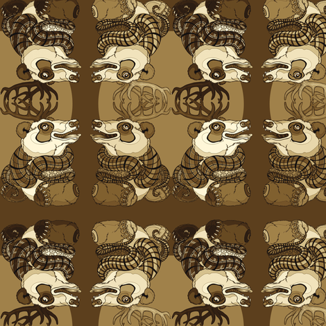 Yoshaleh Chocolate fabric by amy_kollar_anderson on Spoonflower - custom fabric