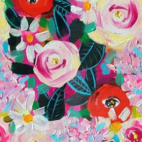 Hydrangea, Peony, and Poppy Painting