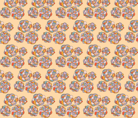 tangerine knots fabric by unclemamma on Spoonflower - custom fabric