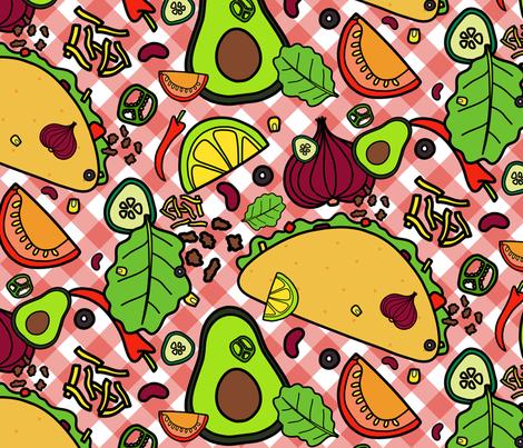 Team Taco fabric by carola_koberstein on Spoonflower - custom fabric