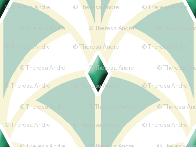Emerald Art Deco Ribbon Weave