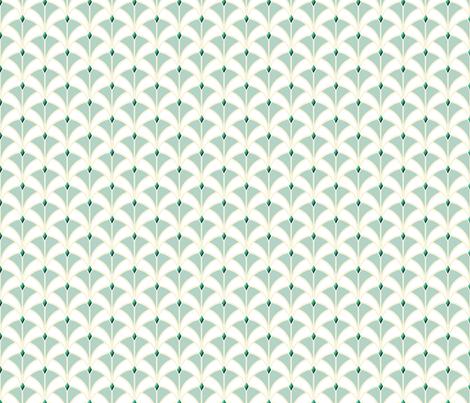 Emerald Art Deco Ribbon Weave fabric by twix on Spoonflower - custom fabric