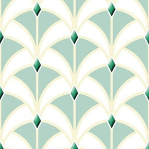 Emerald Art Deco Ribbon Weave
