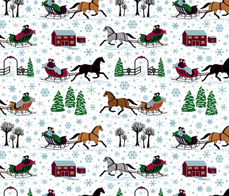 Dashing through 12x12 fabric by leroyj on Spoonflower - custom fabric