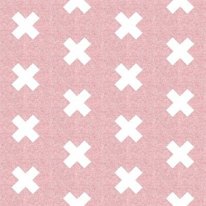 Linen cross dusty pink