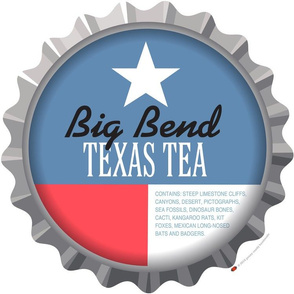 Soda Nation Pillow Panel (Big Bend National Park) || United States America parks typography bottle cap bottlecap pop travel summer vacation road trip home decor Texas flag star