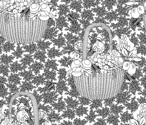 Fruit Basket Still Life fabric by glimmericks on Spoonflower - custom fabric
