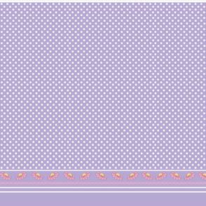 Polka dots flower border