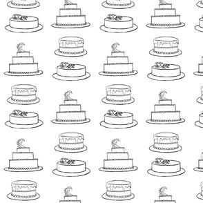 Three Cakes- Coloring Book Version
