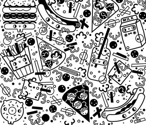 Food-Frenzy fabric by kooki_studio on Spoonflower - custom fabric
