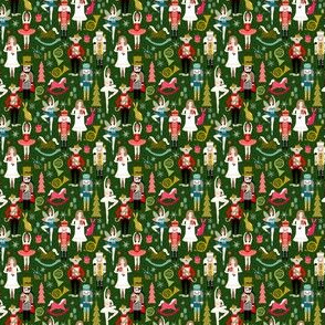 MINI - nutcracker ballet // nutcracker holiday xmas chirstmas fabric xmas holiday andrea lauren - MICRO