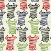 striped t shirts 7 23 18 blk grn red blu on greige
