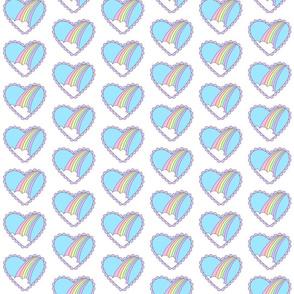 Rainbow Heart White-Small