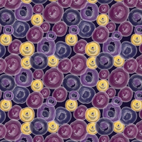 Watercolor Purple Circles