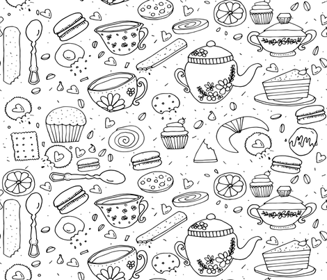 Sweet Tea Time fabric by csic_arte on Spoonflower - custom fabric