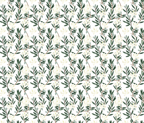 OLIVE BLOOM SMALL fabric by holli_zollinger on Spoonflower - custom fabric