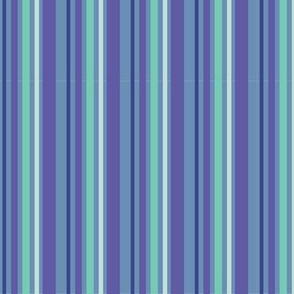 Blue Green Purple White Stripe