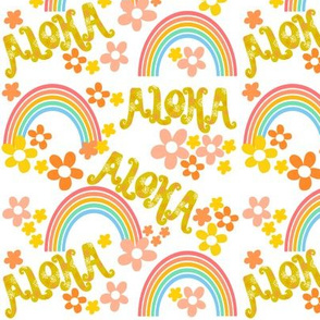 Retro Aloha Rainbow