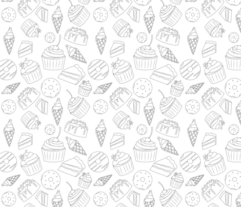 Sweets and Treats  fabric by svaeth on Spoonflower - custom fabric