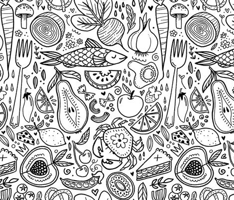 Food Frenzy fabric by baileyknudsen on Spoonflower - custom fabric