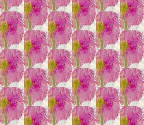 Pink-Purple Flower Watercolor fabric by compugraphd on Spoonflower - custom fabric