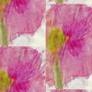 Pink-Purple Flower Watercolor