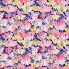PAINTERLY FLORALS BLUE - small