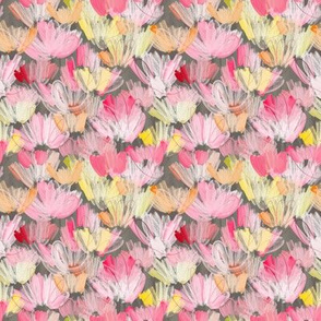 PAINTERLY FLORALS BROWN - small