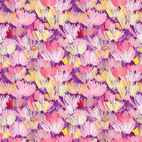 PAINTERLY FLORALS PURPLE - small
