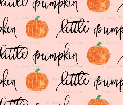 little pumpkin - halloween - pink script
